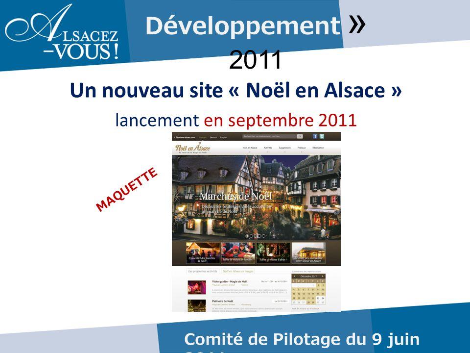 Développement » 2011 Un nouveau site « Noël en Alsace » lancement en septembre 2011 Comité de Pilotage du 9 juin 2011 MAQUETTE
