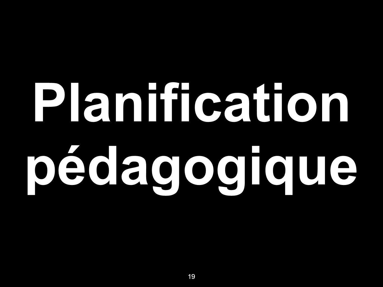Planification pédagogique 19