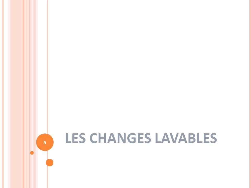 5 LES CHANGES LAVABLES 5