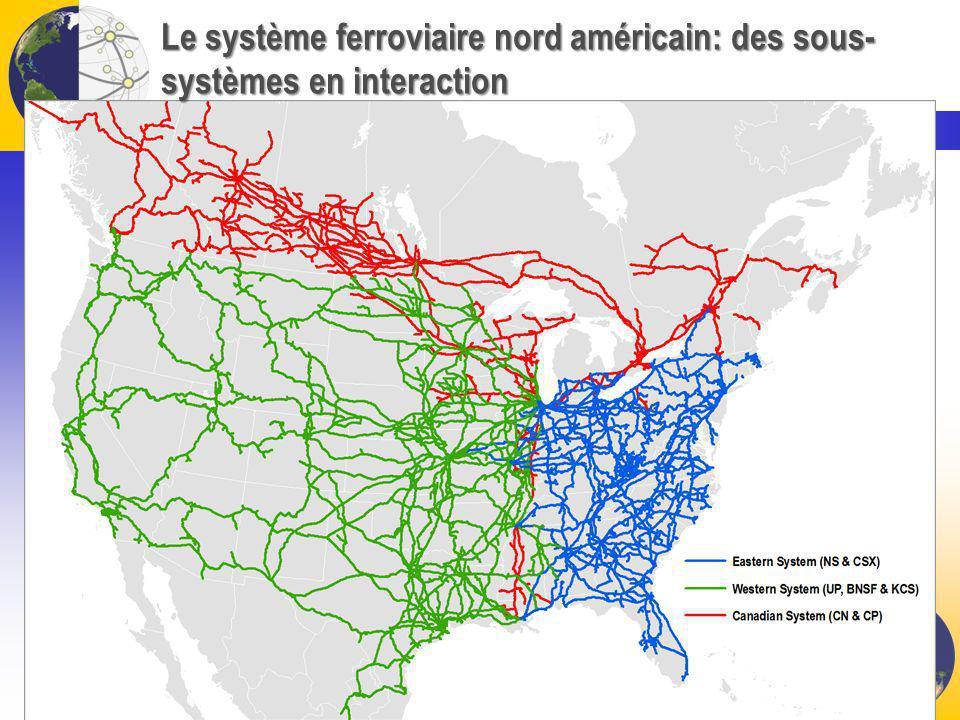 Le système ferroviaire nord américain: des sous- systèmes en interaction