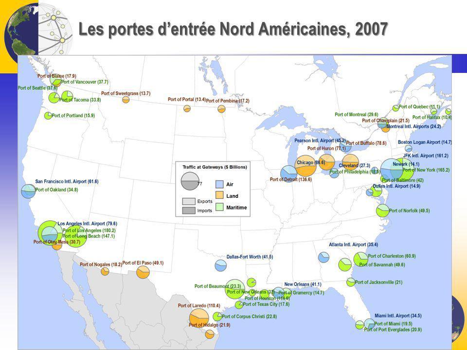 Les portes dentrée Nord Américaines, 2007