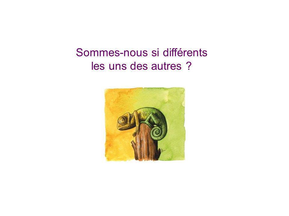 Sommes-nous si différents les uns des autres ?