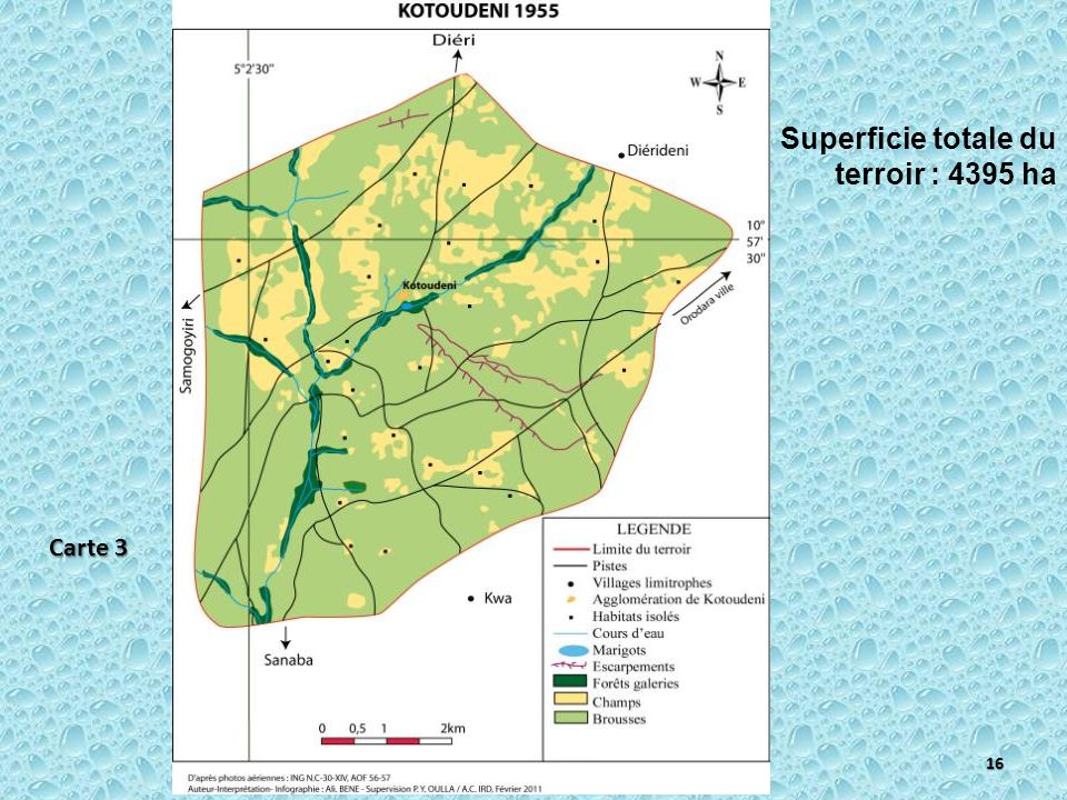 Superficie totale du terroir : 4395 ha 16 Carte 3