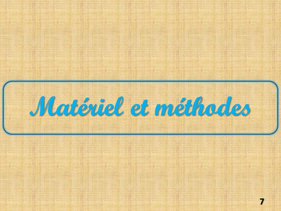 Matériel et méthodes 7