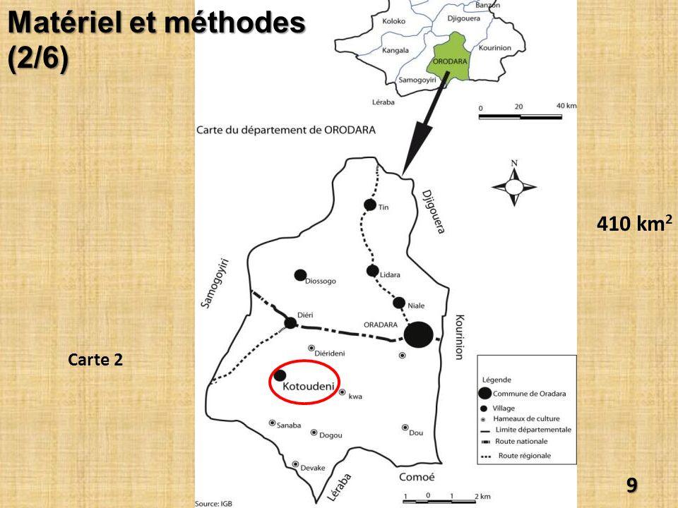 410 km 2 9 Matériel et méthodes (2/6) Carte 2