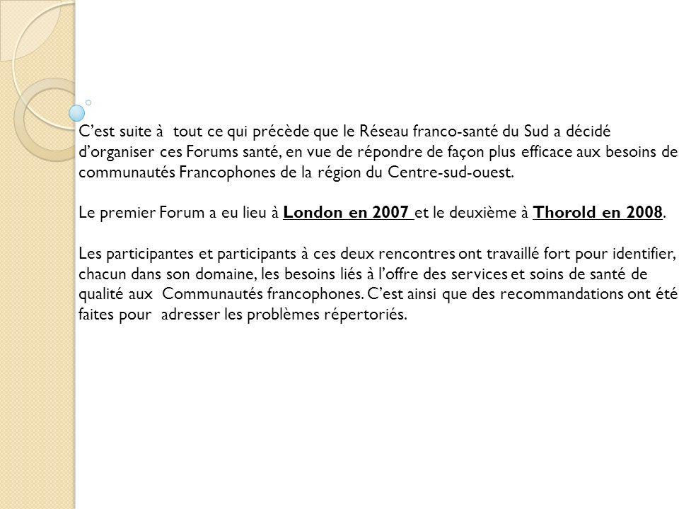 Mandat du Réseau franco-santé du Sud Le but du Réseau est dassurer à tous les francophones du Sud de lOntario laccès, en français, à des services de santé de qualité.