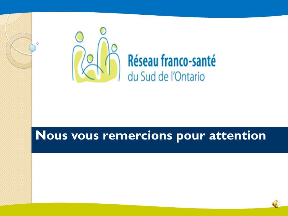 Le Réseau continuera à relever de nouveaux défis, notamment celui de sensibiliser et de mobiliser la communauté francophone sur limportance des services de santé en français et dencourager les francophones à siéger à des conseils dadministration et à divers comités de prise de décision.