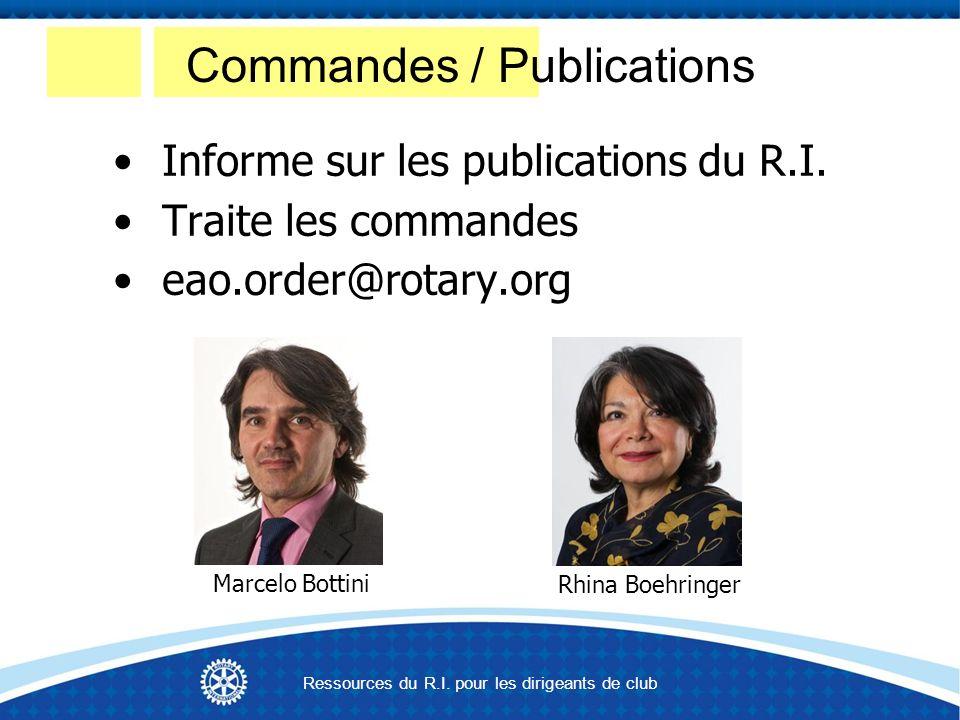 Informe sur les publications du R.I.