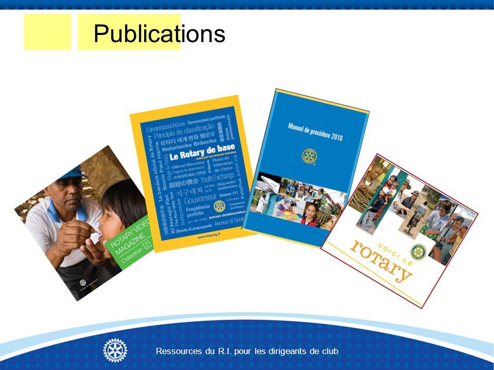 Publications Ressources du R.I. pour les dirigeants de club