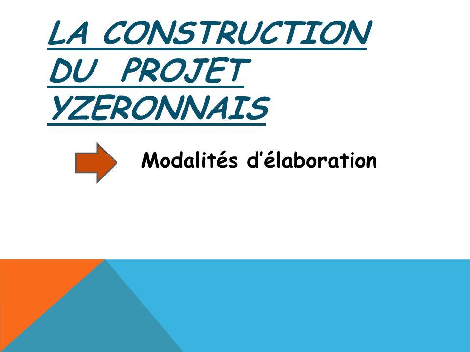 LA CONSTRUCTION DU PROJET YZERONNAIS Modalités délaboration