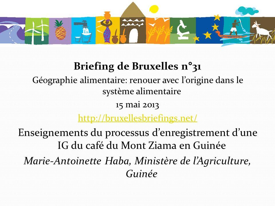 Briefing de Bruxelles n°31 Géographie alimentaire: renouer avec lorigine dans le système alimentaire 15 mai 2013 http://bruxellesbriefings.net/ Enseig