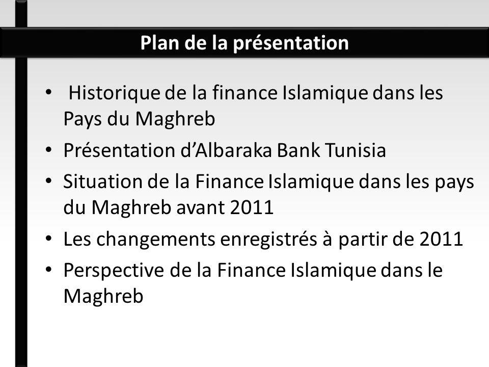 Historique de la finance Islamique dans les Pays du Maghreb Présentation dAlbaraka Bank Tunisia Situation de la Finance Islamique dans les pays du Mag