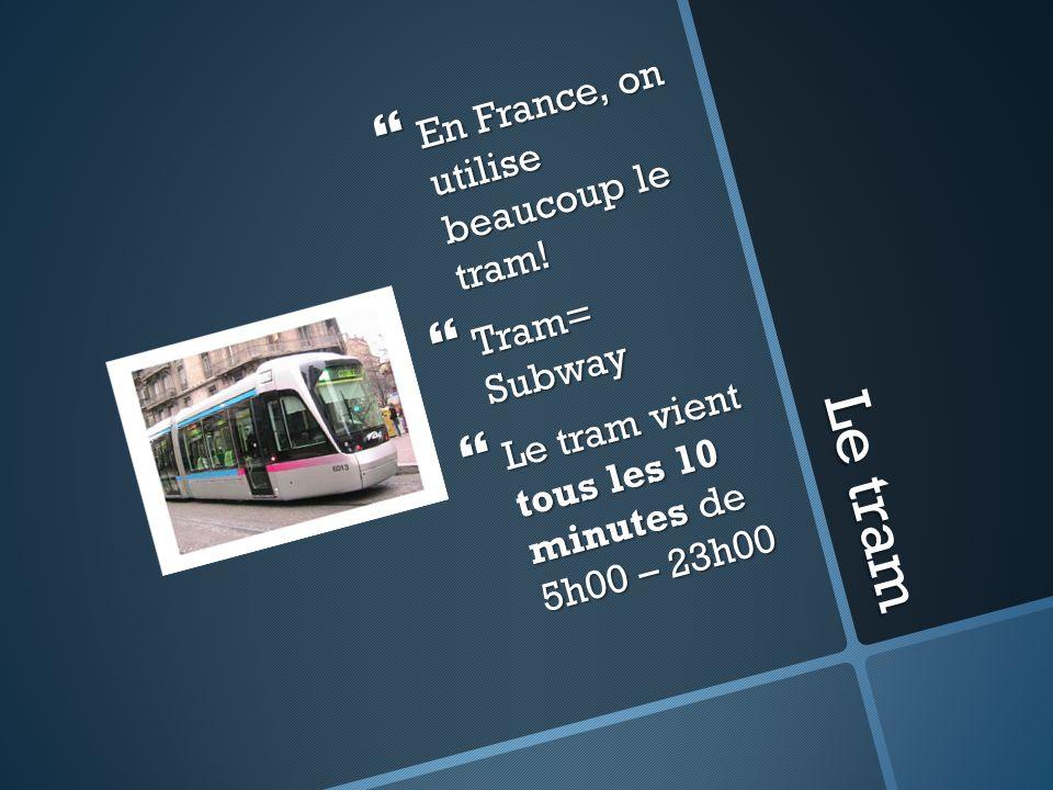 Pourquoi utiliser le tram? Seulement 469/1000 familles en France ont une voiture Vs.