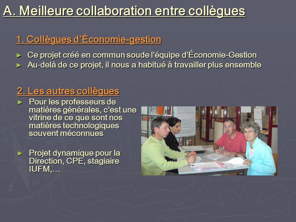 1. Collègues dÉconomie-gestion Ce projet créé en commun soude léquipe dÉconomie-Gestion Ce projet créé en commun soude léquipe dÉconomie-Gestion Au-de