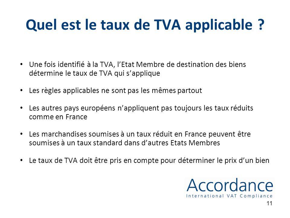 10 3. Quel est le taux de TVA applicable ?