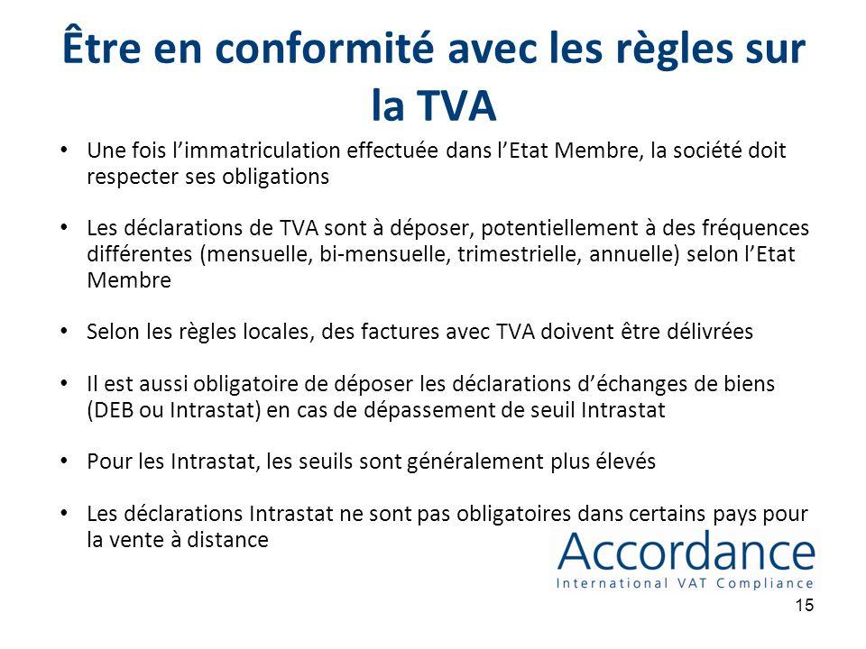 14 5. Être en conformité avec les règles en matière de TVA