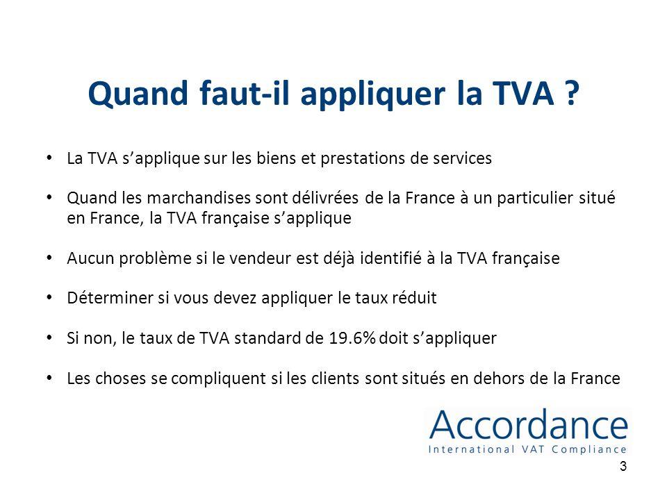 Introduction TVA & E-commerce Focus sur la vente à distance Les obligations dimmatriculation à la TVA dans les Etats Membres Quel taux de TVA devez-vous appliquer .