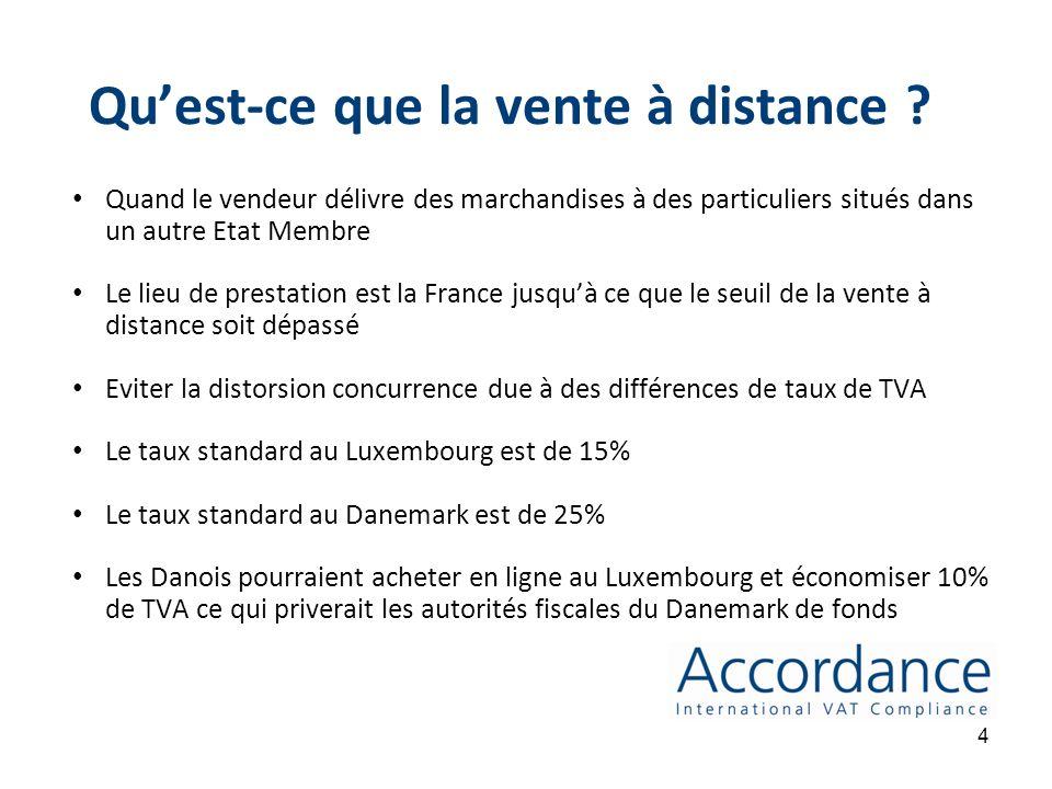 Quand faut-il appliquer la TVA ? La TVA sapplique sur les biens et prestations de services Quand les marchandises sont délivrées de la France à un par