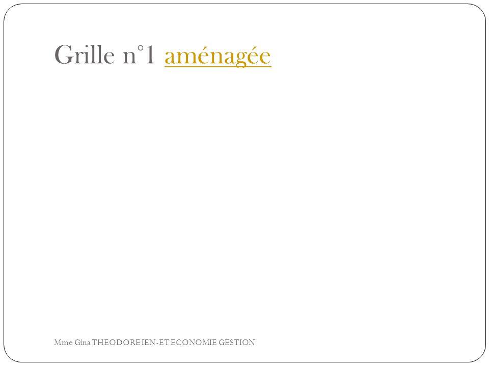 Grille n°1 aménagéeaménagée Mme Gina THEODORE IEN-ET ECONOMIE GESTION