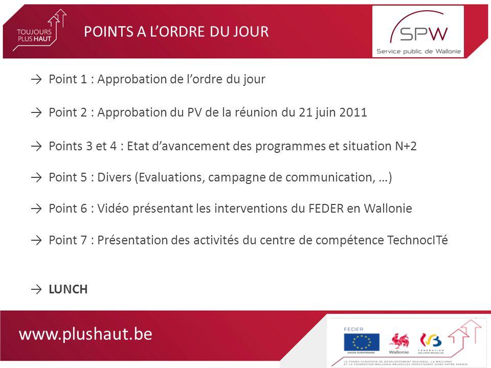 www.plushaut.be Point 5 : Divers (Evaluations, campagne de communication,…)