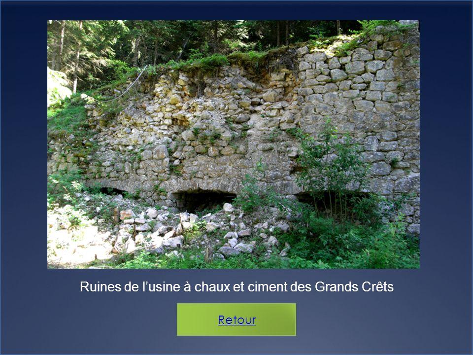Ruines de lusine à chaux et ciment des Grands Crêts
