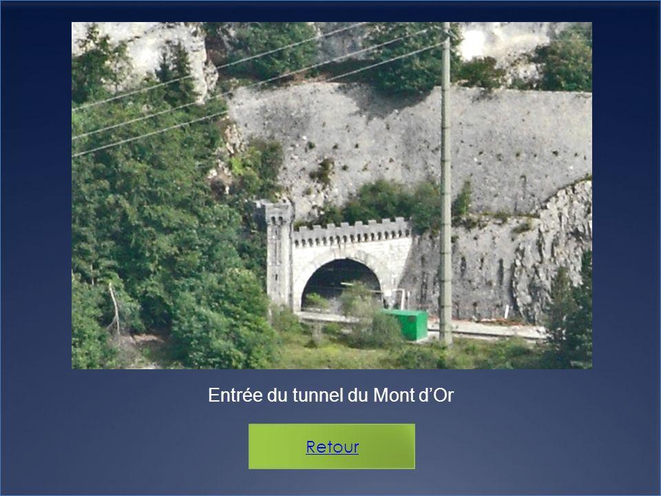 Entrée du tunnel du Mont dOr Retour