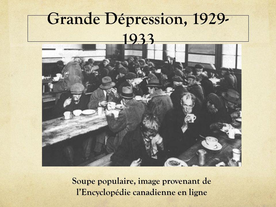 Grande Dépression, 1929- 1933 Soupe populaire, image provenant de lEncyclopédie canadienne en ligne