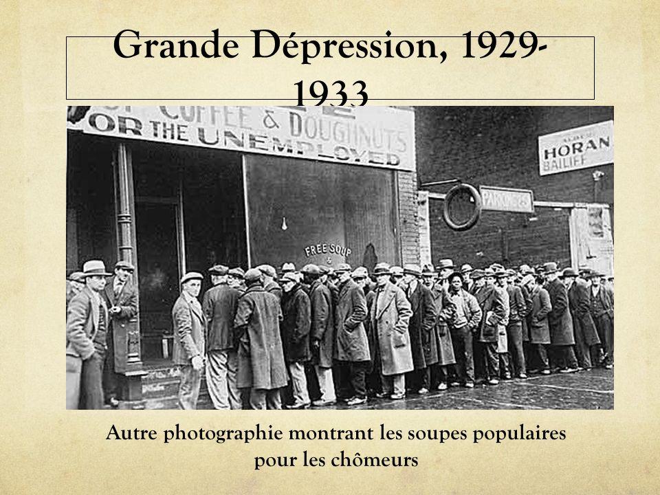 Grande Dépression, 1929- 1933 Autre photographie montrant les soupes populaires pour les chômeurs