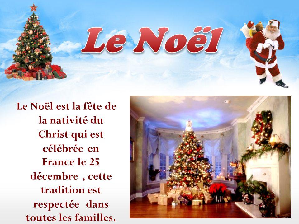 Le Noël est la fête de la nativité du Christ qui est célébrée en France le 25 décembre, cette tradition est respectée dans toutes les familles.