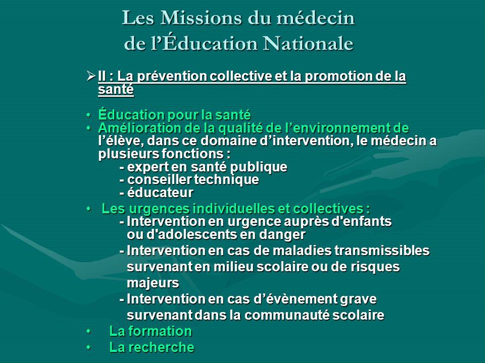 II : La prévention collective et la promotion de la santé II : La prévention collective et la promotion de la santé Éducation pour la santéÉducation p