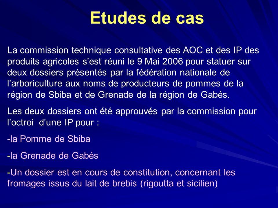 La commission technique consultative des AOC et des IP des produits agricoles sest réuni le 9 Mai 2006 pour statuer sur deux dossiers présentés par la