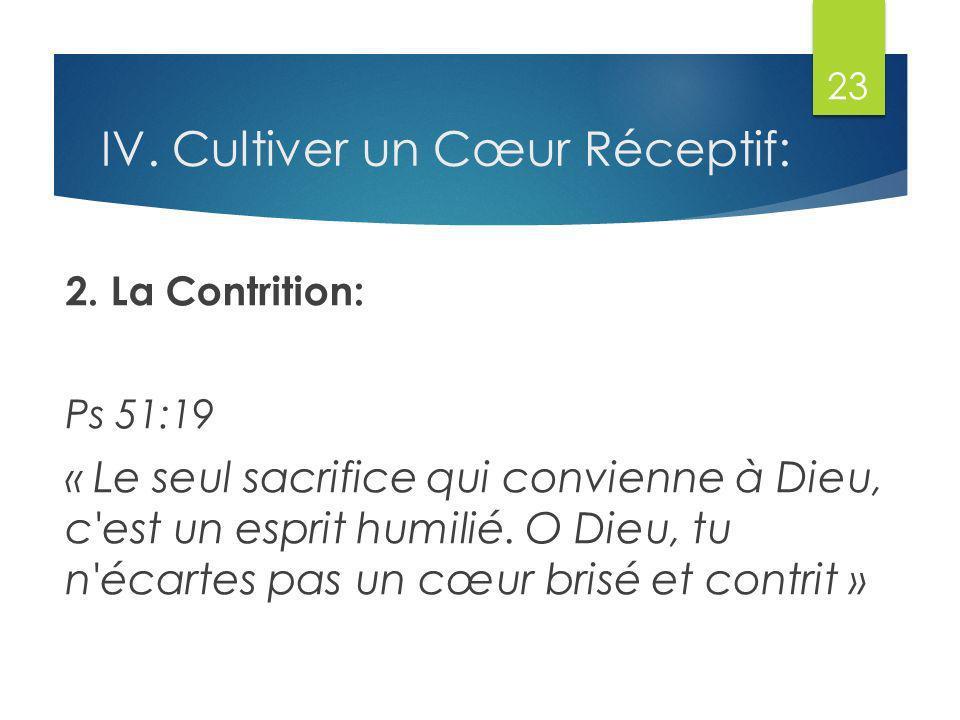 IV.Cultiver un Cœur Réceptif: 2.