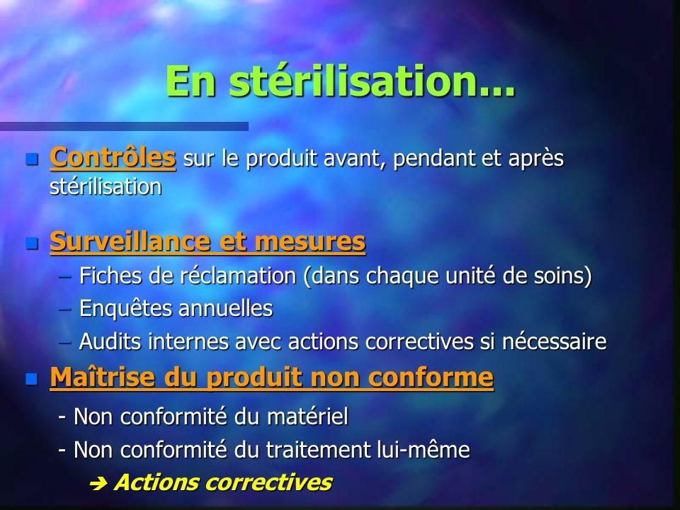 En stérilisation...