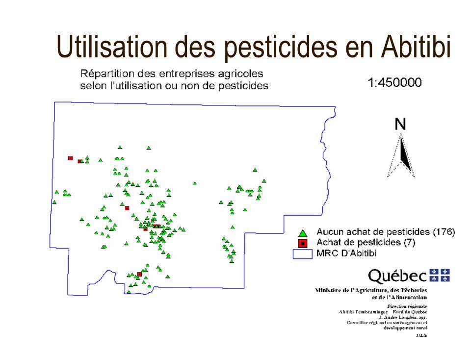 Utilisation des pesticides en Abitibi