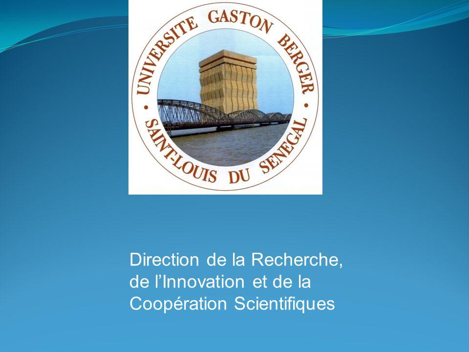 Direction de la Recherche, de lInnovation et de la Coopération Scientifiques
