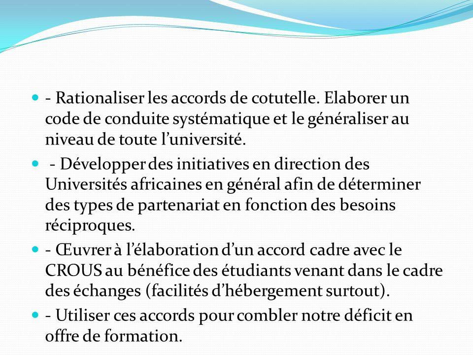 AFRIQUE LUGB a des relations solides avec lUniversité de Nouackchott en Mauritanie: Echange de PER, de PATS.