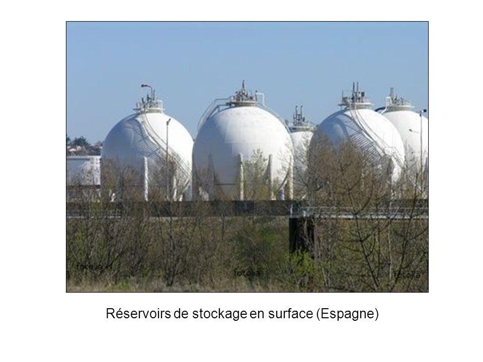Réservoirs de stockage en surface (Espagne)