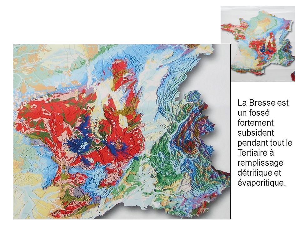 La Bresse est un fossé fortement subsident pendant tout le Tertiaire à remplissage détritique et évaporitique.