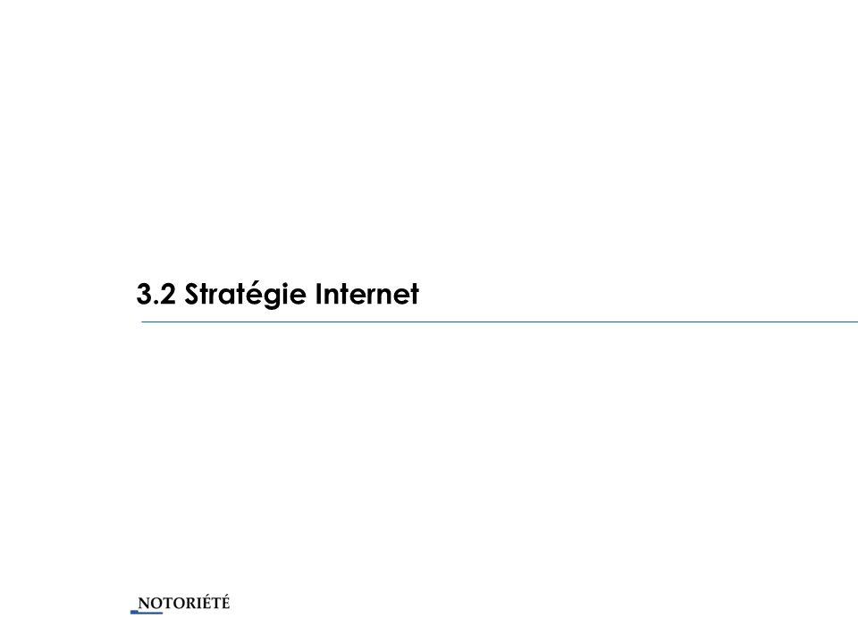 3.2 Stratégie Internet