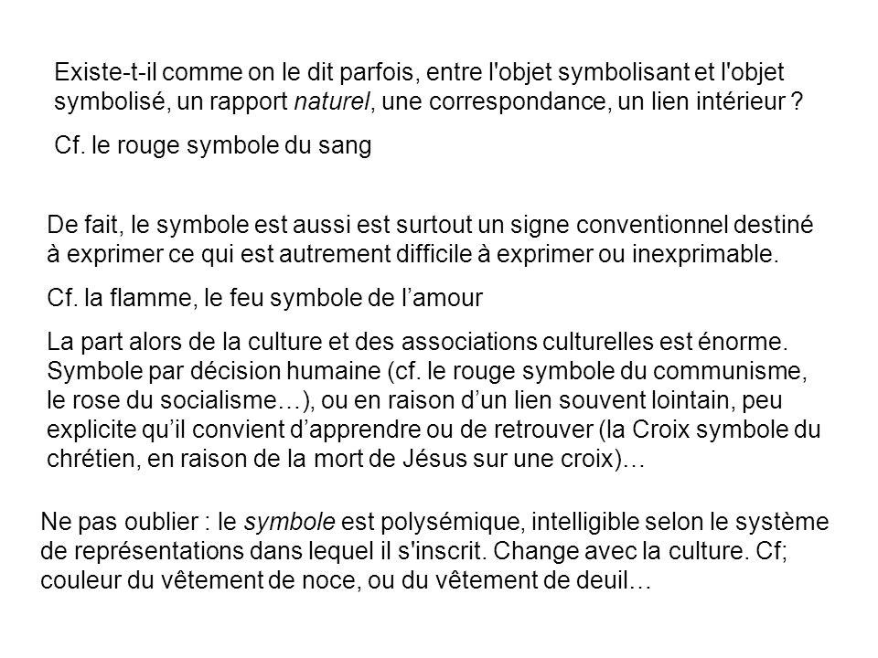 La littérature est riche en symboles Souvent bien au-delà de cette littérature quon appelle « symbolique »… Tout est symbole ??.