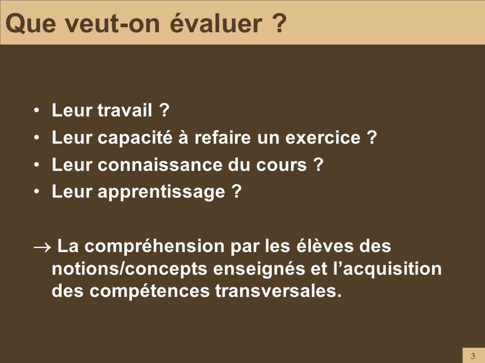 44 Conclusion L évaluation est une tache qui mobilise énormément les enseignants et les élèves.