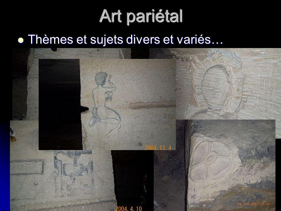Art pariétal Thèmes et sujets divers et variés… Thèmes et sujets divers et variés…