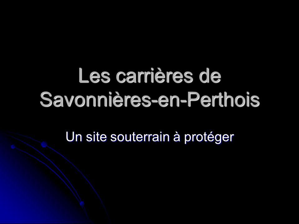 Les carrières de Savonnières-en-Perthois Un site souterrain à protéger