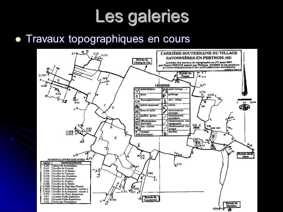 Les galeries Travaux topographiques en cours Travaux topographiques en cours