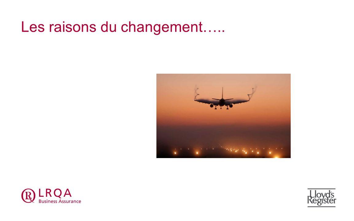 Les raisons du changement…..