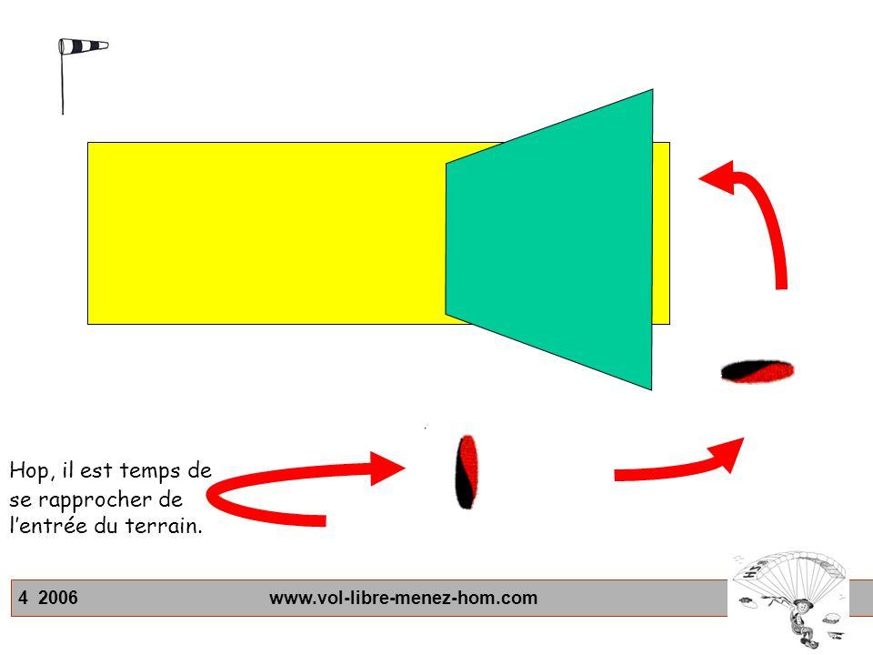 4 2006 www.vol-libre-menez-hom.com Hop, il est temps de se rapprocher de lentrée du terrain.