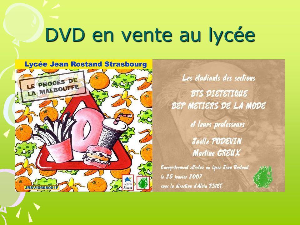 DVD en vente au lycée