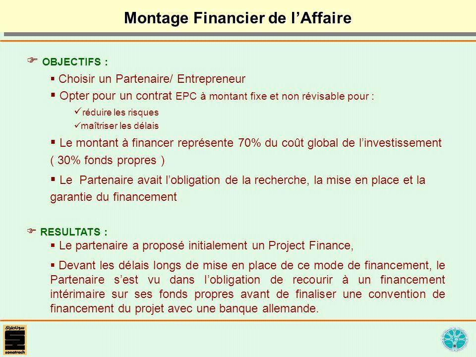 OBJECTIFS : Choisir un Partenaire/ Entrepreneur Opter pour un contrat EPC à montant fixe et non révisable pour : réduire les risques maîtriser les dél