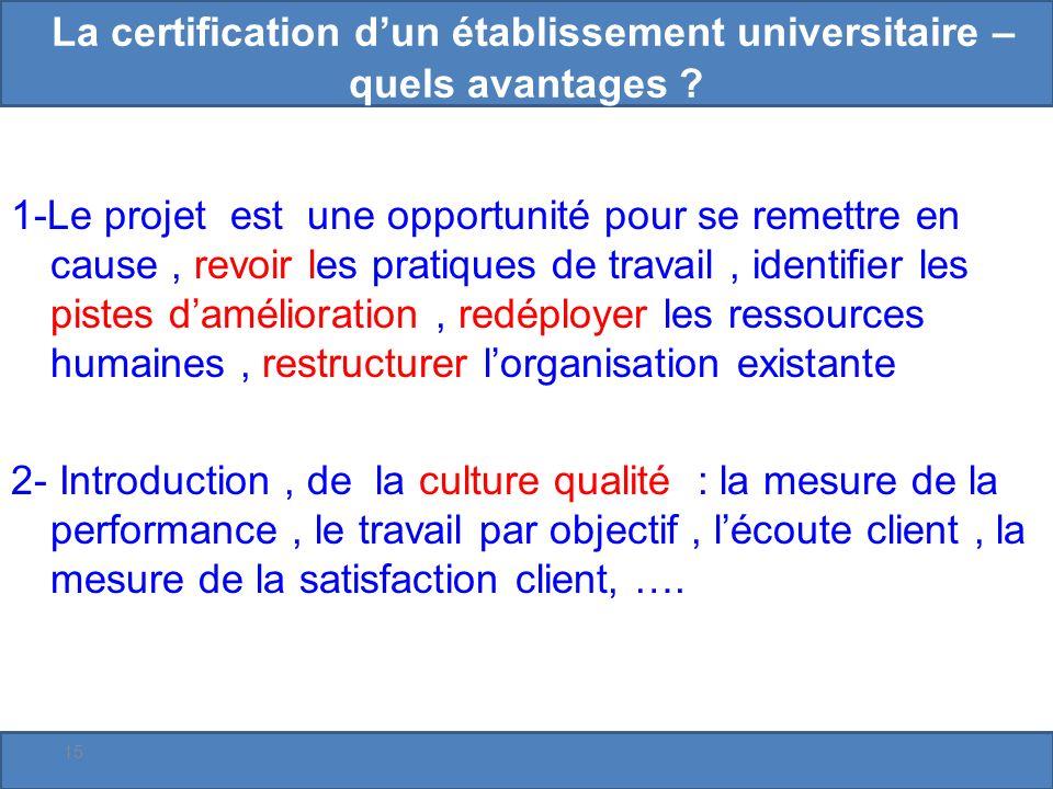 La certification dun établissement universitaire – quels avantages .