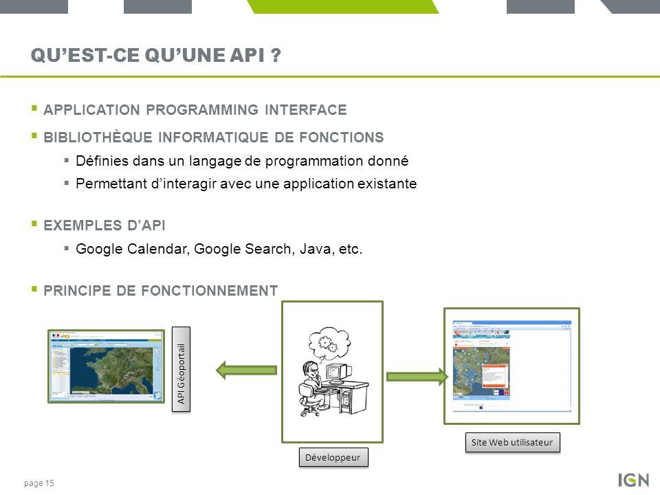 QUEST-CE QUUNE API ? APPLICATION PROGRAMMING INTERFACE BIBLIOTHÈQUE INFORMATIQUE DE FONCTIONS Définies dans un langage de programmation donné Permetta